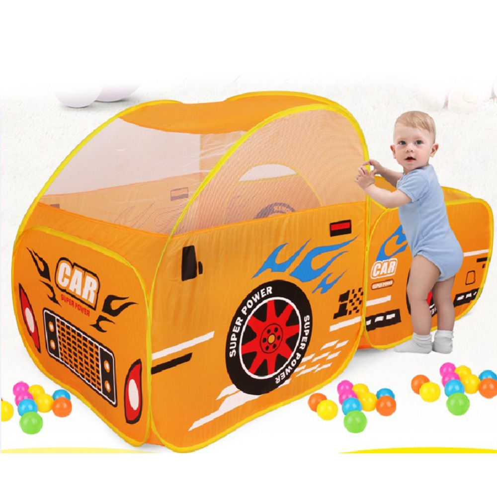 Foldable Kids Outdoor Play Tent Baby Ocean Ball Pool Pit Game Play House Boys Girls Cute Car Model Play Tents Toys For Children