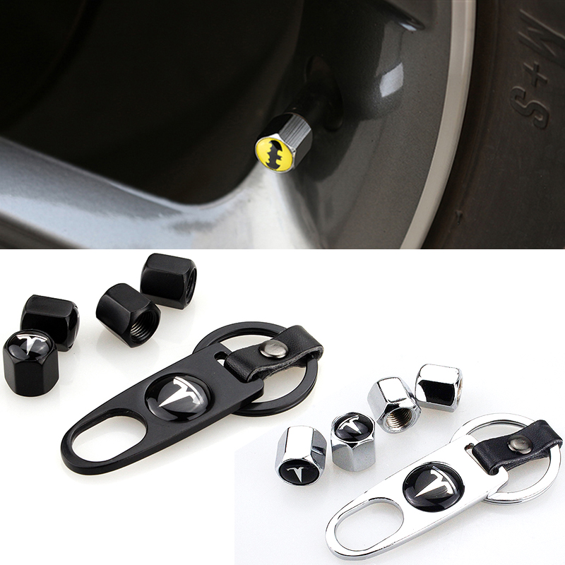 Auto Accessories Portable Wrench Car Wheel Tyre Tire Stem Air Valve Caps Key For Tesla MODEL S S P85D X 3 Y Roadster Car-Styling