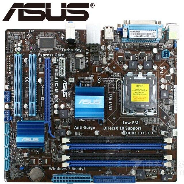 Asus P5G41C-M LX Để Bàn Bo Mạch Chủ G41 Ổ Cắm LGA 775 Q8200 Q8300 DDR2/3 8G U ATX UEFI BIOS ban đầu Sử Dụng Mainboard Bán