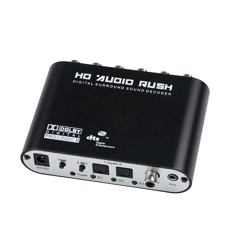 Image 2 - Kebidumei Digital Audio Decoder 5.1 Audio Stereo DTS SPDIF Digital Audio Converter for XBOX360 PS3 Laptop Blue ray DVDdigital audio decoder5.1 audiodecoder 5.1 -
