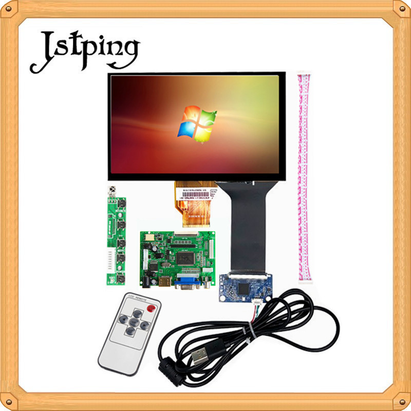 Jstping 7 inch HDMI VGA AV for <font><b>Raspberry</b></font> <font><b>Pi</b></font> 3 Windows Portable High LCD <font><b>display</b></font> Monitor Driver Board+<font><b>Capacitive</b></font> touch screen image