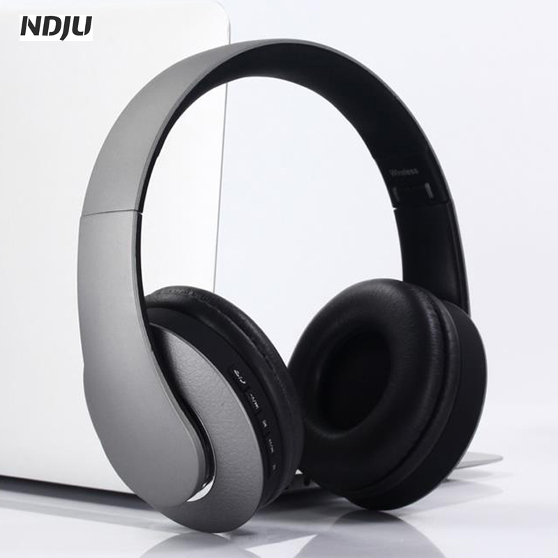 NDJU Stereo Bass Bluetooth Headphone Wireless Sport Headsets Noise canceling With Mic TF MP3 HIFI Gaming Earphone fone de ouvido hot sale ttlife noise cancelling headphones fone de ouvido bluetooth 4 1 headset portable bass stereo gaming earphone for gamer