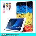2017 Красочные Ультра Тонкий Для Samsung Galaxy T280 Случае Фолио Стенд PU Кожаный Чехол Чехол Для Samsung Galaxy Tab A 7.0 T280 T285