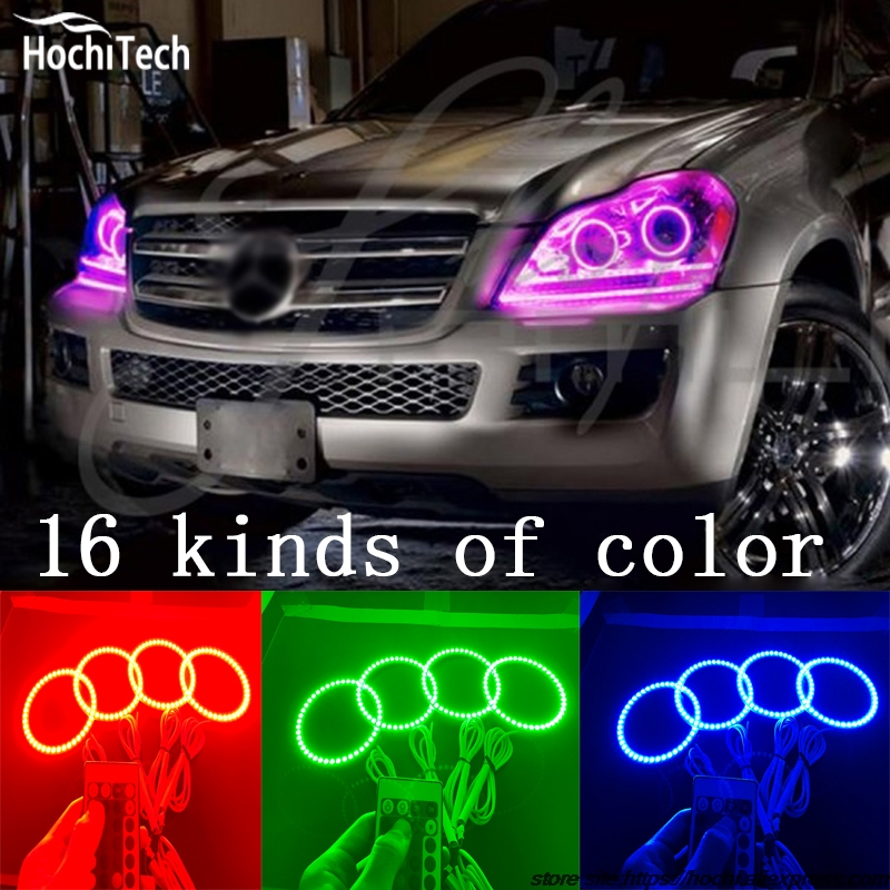 for Mercedes-Benz GL-Class X164 GL450 super brightness colorshift RGB angel eyes halo ring car styling accessories 2007 - 2012 car seat cover automobiles accessories for benz mercedes c180 c200 gl x164 ml w164 ml320 w163 w110 w114 w115 w124 t124