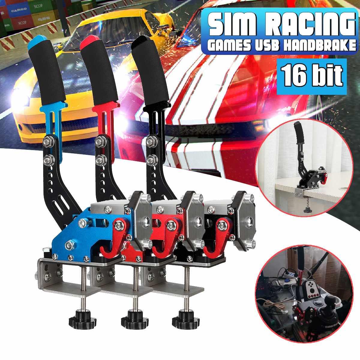 Upgrade 16bit Hall Sensor USB Handbrake SIM W/Clamp For Racing Games G25/27/29 T500 FANATECOSW DIRT RA LLY