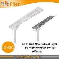 3pcs/lot 40w led street lamp solar panel 10w 20w led road light 30w photocell sensor outdoor led luminaire radar sensor ip65