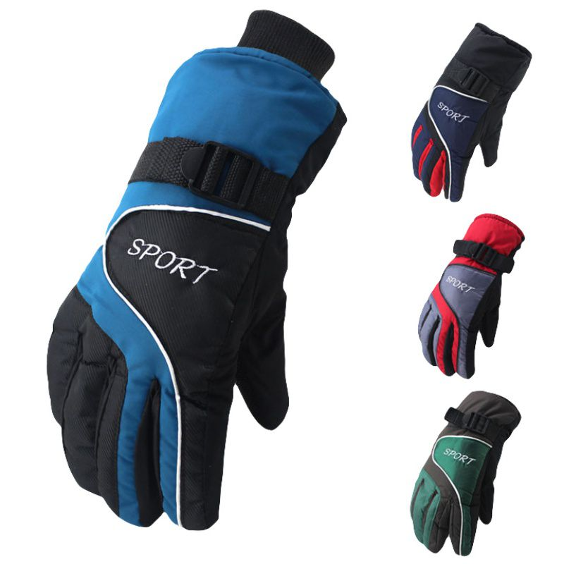 Outdoor Winter Warm Skiing Gloves Men Women Snowboard Gloves Winter Warm Windproof Cycling Ski Gloves