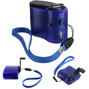 Portable Emergency Power USB Hand Crank SOS Phone Charger Charging Camping Outdoor Plastic Backpack Survival Gear