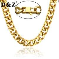 D & Z Hiphop 24 Inch Mannen Goud Kleur Ketting Hoge Poolse 316L Rvs Cubaanse Kettingen voor mannen Sieraden