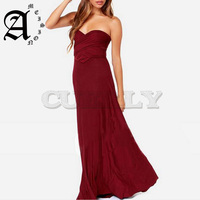 Ameision women Dress Multiway Wrap Convertible Boho Maxi Club Dress Bandage Long Dress Party Bridesmaids Robe Longue Femme
