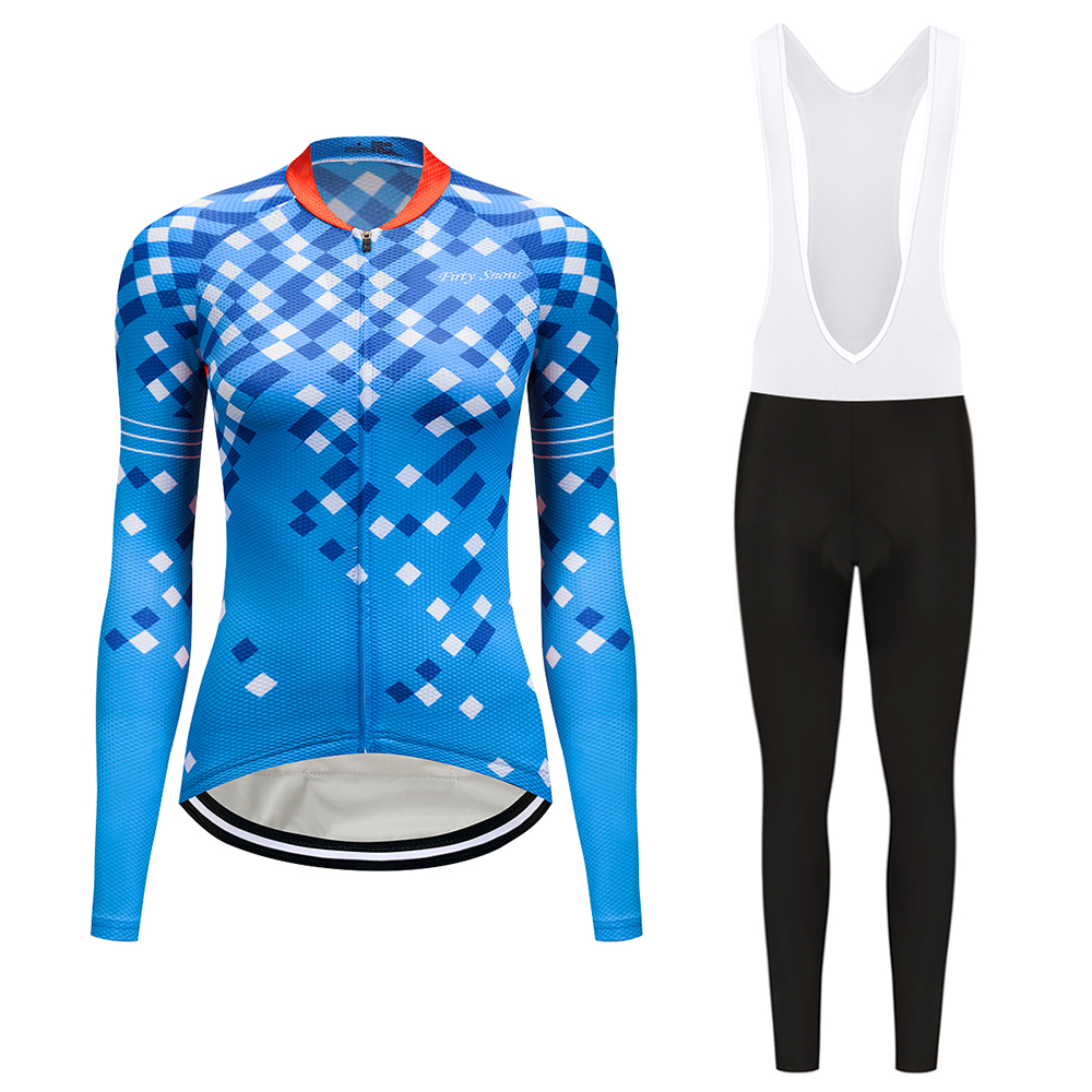 women Female Autumn Cycling Jersey Breathable Waist Ropa Ciclismo Bike Sweat Clothing Maillot Bicycle Radfahren Maglia