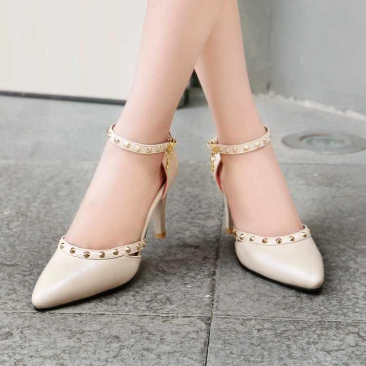 Grande Formato 11 12 13 14 15 16 17 Delle Signore degli alti talloni delle donne scarpe da donna pompe di Fine-con i tacchi alti singoli pattini col tacco alto