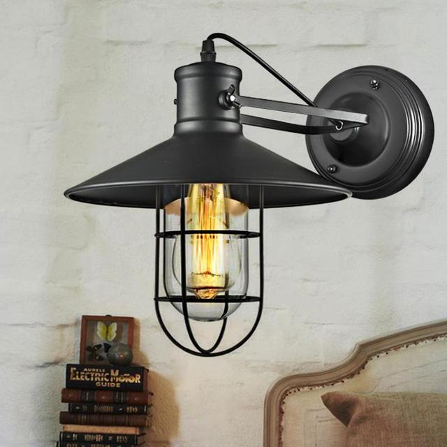 High quality pendant lights vintage wall lamp adjustable rustic bird high quality pendant lights vintage wall lamp adjustable rustic bird cage wall light industrial loft wall aloadofball Choice Image