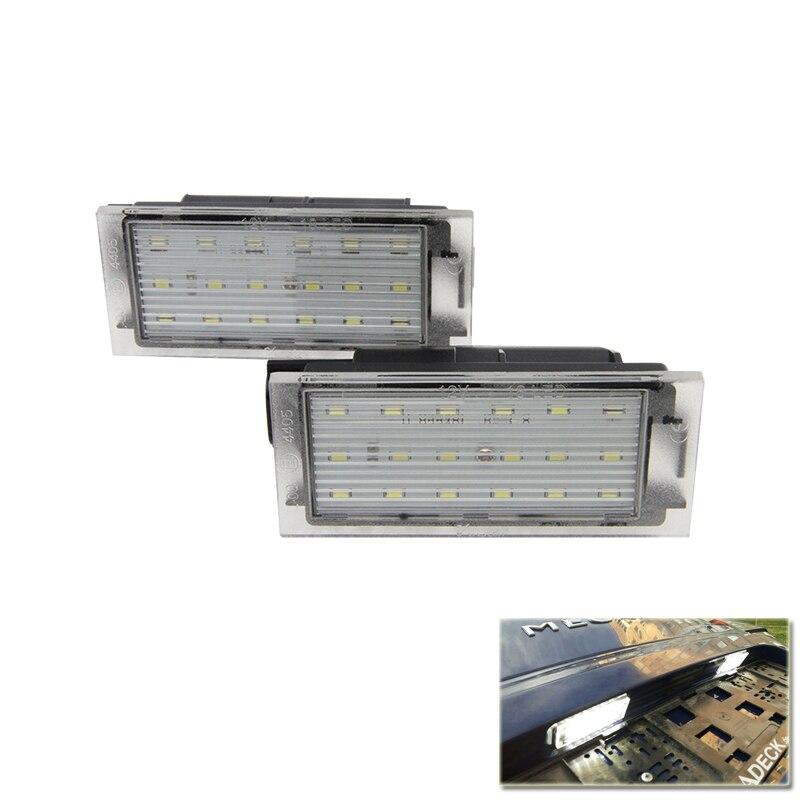 Led License Plate Light Number Lamp For Renault Twingo II, Clio III, Megane II 3D5D Kombi, Laguna III Velsatis Master II 2006