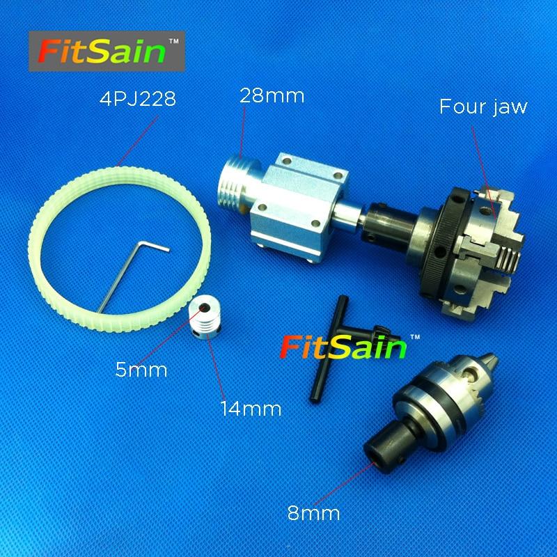 FitSain-hole 5mm pulley four jaw chuck D=50mm  drill chuck B12 1.5-10mm Pulley mini drill press mini Lathe fitsain hole 5mm pulley three jaw chuck d 50mm pulley mini drill press mini lathe