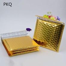 50pcs/lot Gold Aluminized Foil metallic bubble mailer high quality CD/DVD 15*13cm colorful Bubble Envelope Bubble Film Shock Bag
