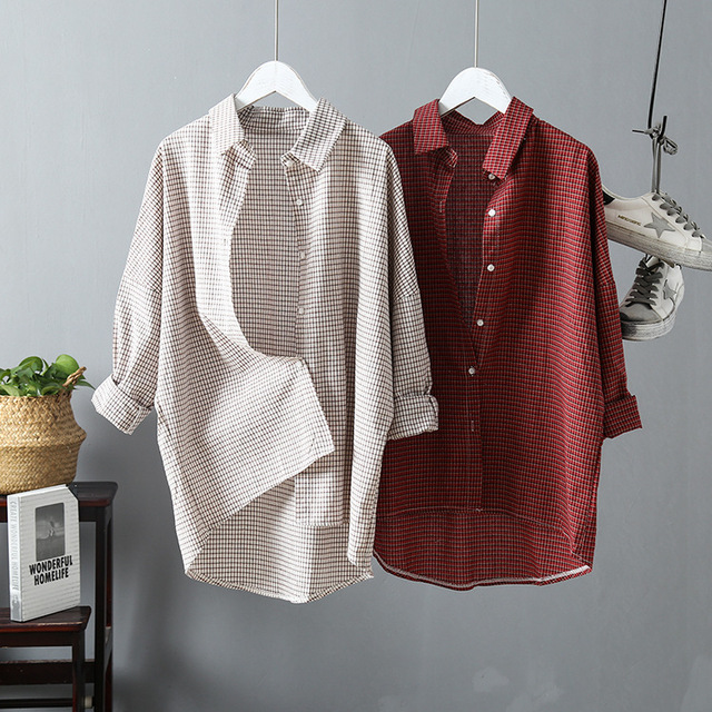2019 Vintage Women Cotton Blouses  1
