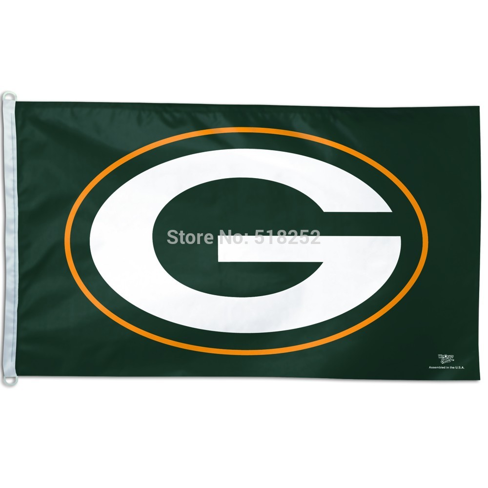 Green Bay Packers Flag 3x5 FT Banner 100D Polyester NFL flag 183, free shipping