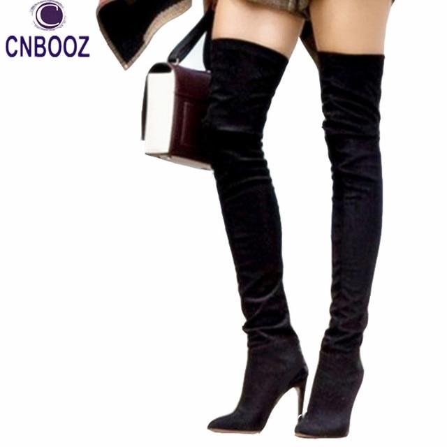 Nouveau OliviaPalermo style D\u0027hiver femmes Sur Le genou hautes bottes  Longues bottes fond Rouge