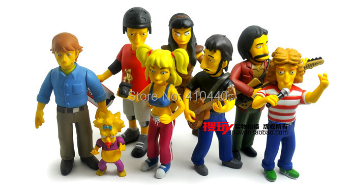 "New 8pcs Simpsons 25th Anniversary - 5"" <font><b>Action</b></font> <font><b>Figure</b></font> Series 2 - Assortment"