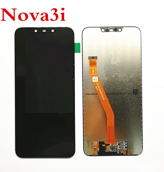 6.3 ''Nouveau Noir Pour Huawei nova 3i lcd nova 3i INE-LX2 LCD Full DIsplay + Écran Tactile Digitizer Assemblée 100% Testé nova 3i