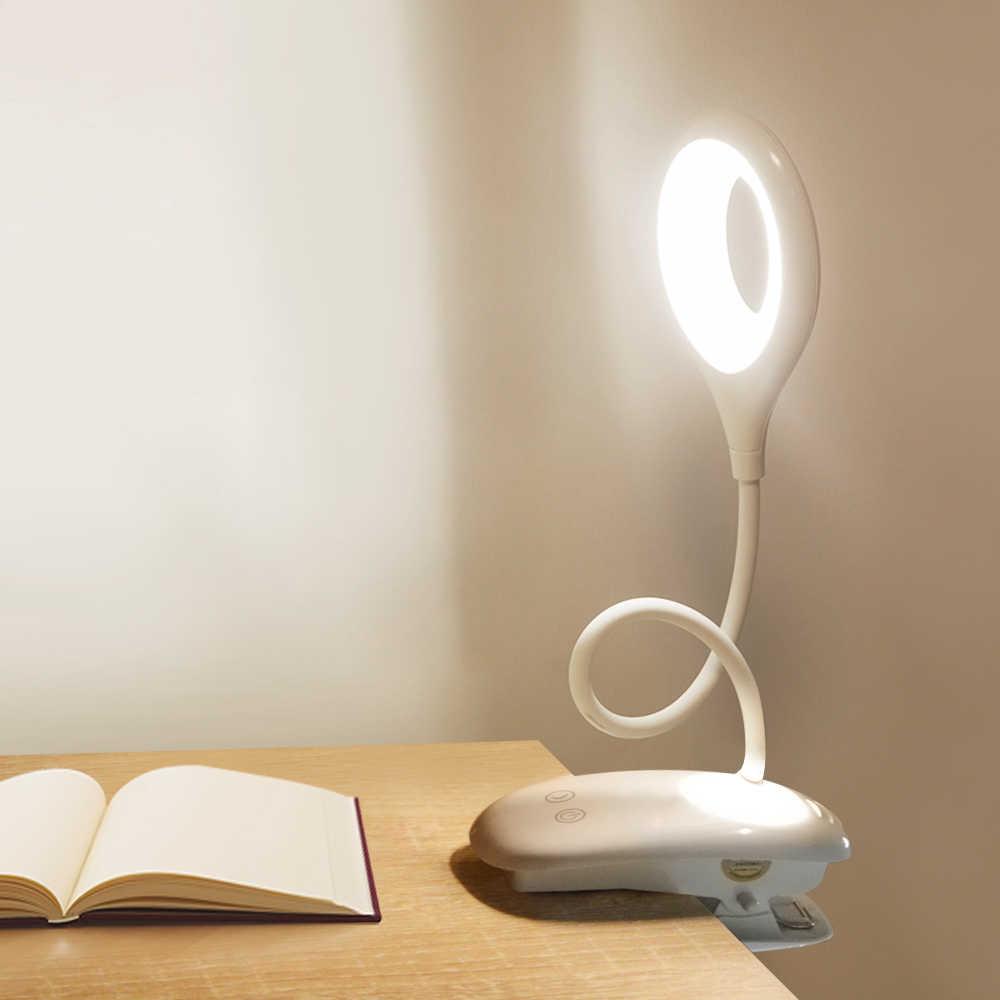 USB заряжаемая настольная лампа светодио дный с регулируемой яркостью Светодиодная настольная лампа прикроватная лампа сенсорный датчик переключатель спальня лампа ночник светодио дный лампа Luminaria