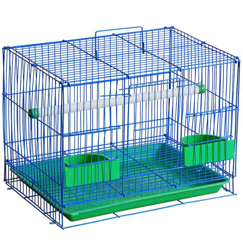 Double métal Pigeon lapin oiseau Cage Portable poignée fil petits oiseaux nid Starling muguet perroquet universel Cage oiseau produits