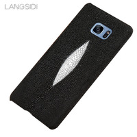 LANGSIDI brand mobile phone case Pearl fish half a pack mobile phone case for Samsung note 10 9 A70 phone case custom processing