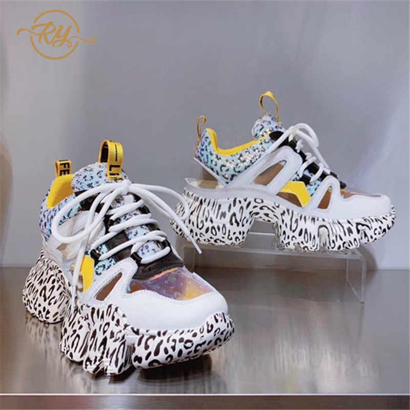 b7d4f7dea1 RY-RELAA women fashion sneakers women 2018 off white shoes Genuine Leather  women platform shoes wedge sneakers shoes woman