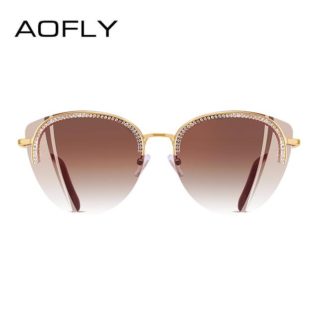 AOFLY BRAND DESIGN Sun Glasses for Women 2018 Sunglasses Elegant Luxury Style Decoration Shades Female Gafas de sol A144 2