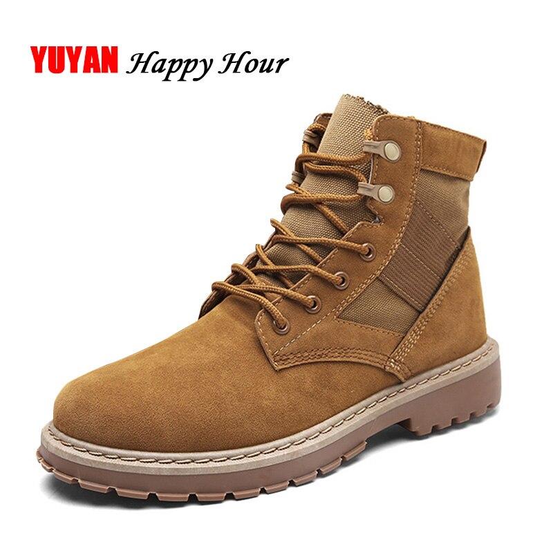 2019 Winter Schuhe Männer Mode Einzigen Stiefel Mann Hoch Oben Leinwand Schuhe Non-slip Herren Desert Boots Männlichen Ankle Botas A239