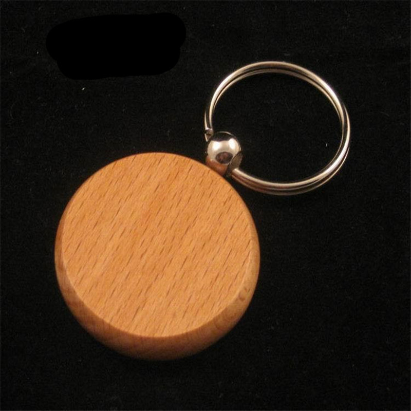 100pcs DIY Blank Wooden Key Chain Personalized Round Wood