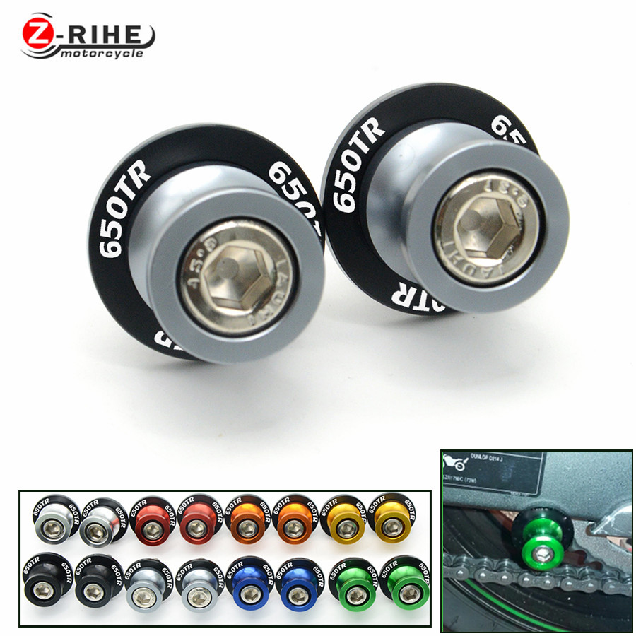 for motorcycle Accessories plastic&Aluminum Swingarm Spools slider stand screws for Spring bikes 150NK owl 650TR 650NK 650TR log