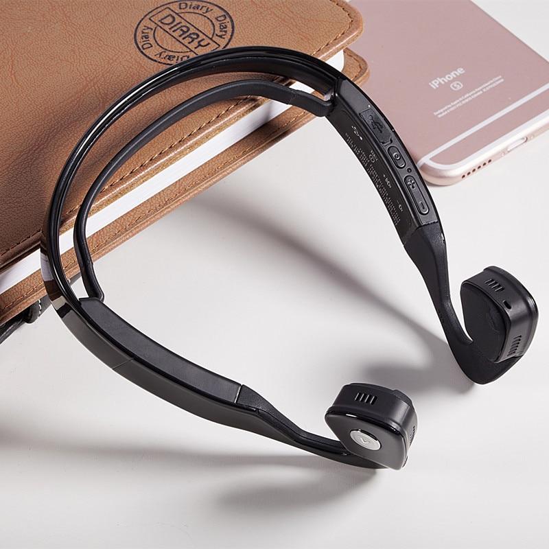 S.Wear Bluetooth Bone Conduction Headphone Ergonomic Noise Isolating Handfree Headset HiFi Sports Earphone for Smartphone Tablet