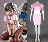 Street Fighter chunli cosplay pink outfit womens halloween Costumes