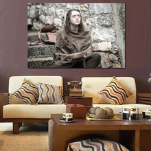 Game Of Thrones Maisie Williams As Arya Stark Canvas Posters Prints Painting Wall Picture For Living Room Modern Home Decoration john stark picture of edinburgh
