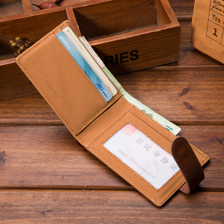 Men Wallet Purse Coin-Money-Cards Short-Design Vintage for 1pcs Casual New-Arrival