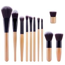 FGHGF 11pcs/set Professional Natural Bamboo Makeup Brushes Foundation Brush Cosmetics Tool Women Facial