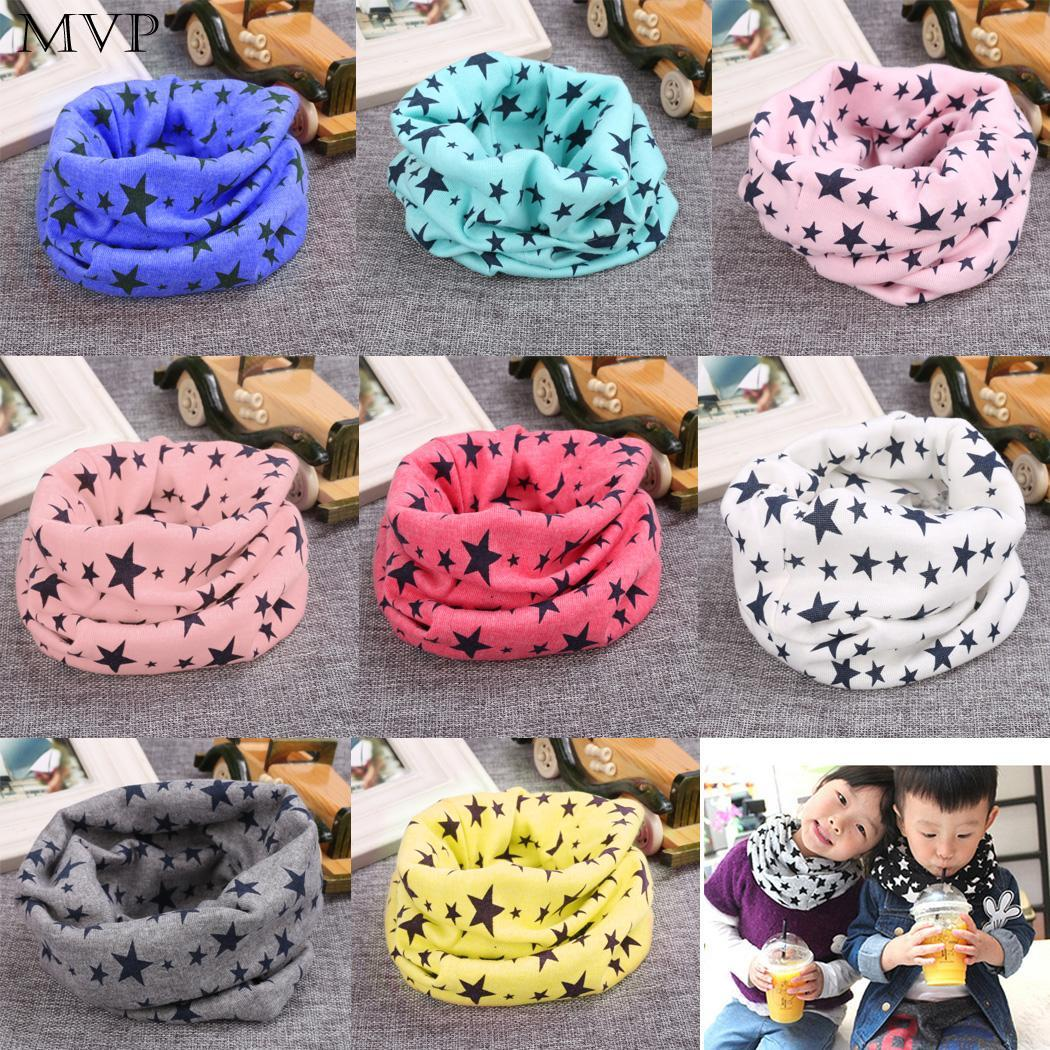 Fashion Scarf Kids Long Warm Stars Printed Snood Outdoor Neck Warmer Scarf