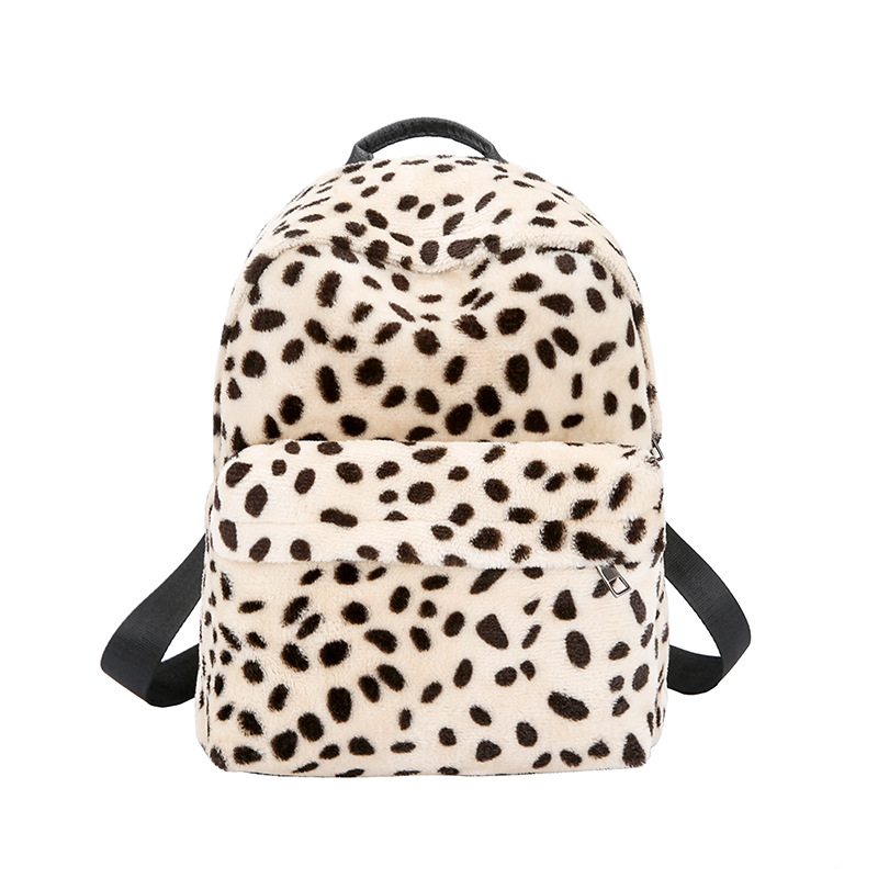 Winter Women Leopard Print Backpack Female PU Leather Shoulder Bag  Teenagers Schoolbag Travel Weekend Bag Mochila Christmas Gift-in Backpacks  from Luggage ...