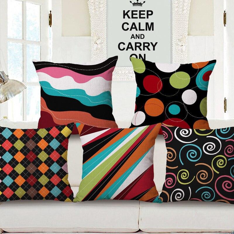 Nórdico minimalista estilo geométrico funda de almohada, textura