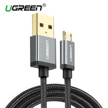 Ugreen micro usb к usb кабель для samsung htc huawei быстро зарядное устройство usb кабель для xiaomi android мобильных телефонов кабелей microusb