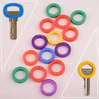 CITALL Universal 16pcs Mixed Color Identification Silicone Key Rings Hollow Caps Covers Keychain Identifier Tags Keyrings