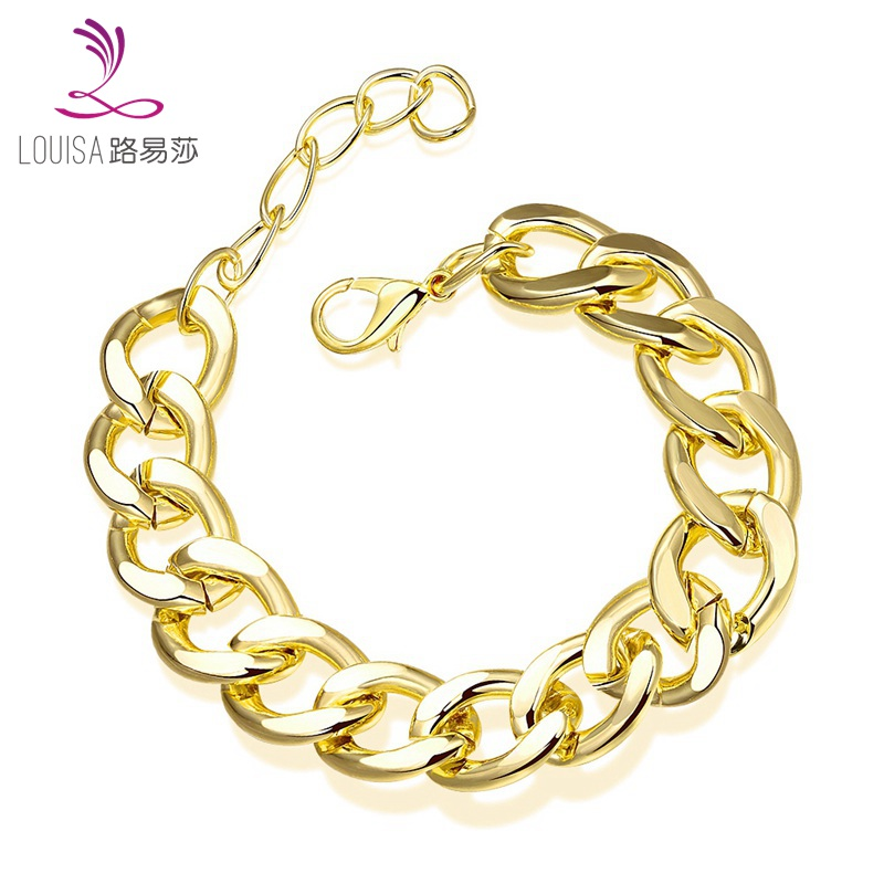 Classic Style Gold Filled Bracelet Man Snake Link Chain
