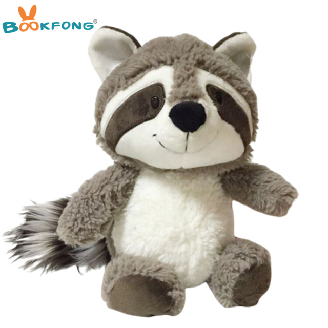 25 centímetros Adorável Guaxinim Guaxinim Brinquedo De Pelúcia Animal Bonito Urso De Pelúcia Boneca de Pelúcia Do Bebê da Boneca Caçoa o Presente