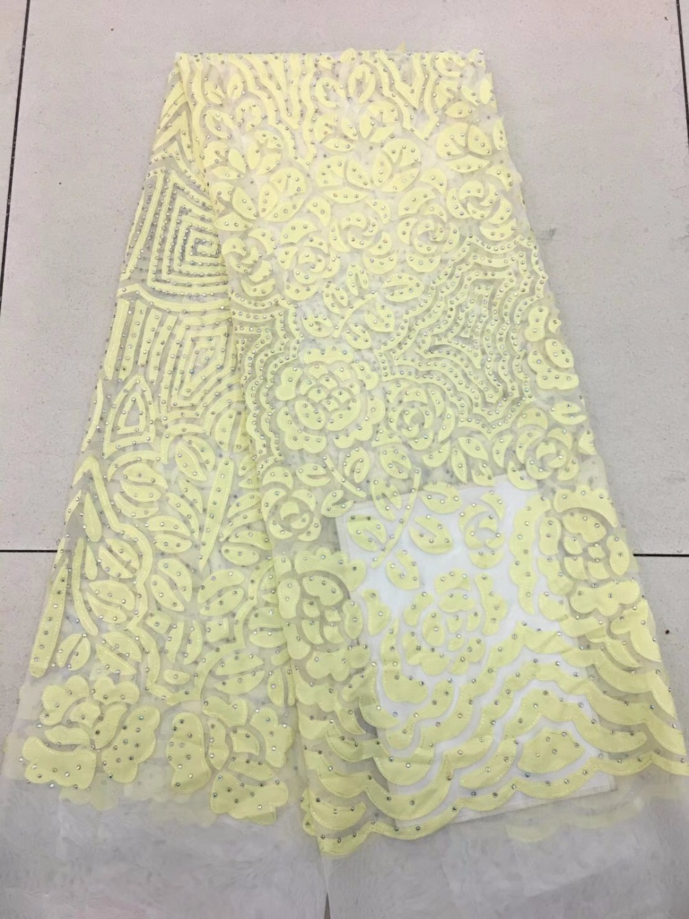 Tulle Chiffon Lace Fabric Embroidered Nigerian Women French Lace Fabric High Quality African Lace Fabric With StoneTulle Chiffon Lace Fabric Embroidered Nigerian Women French Lace Fabric High Quality African Lace Fabric With Stone