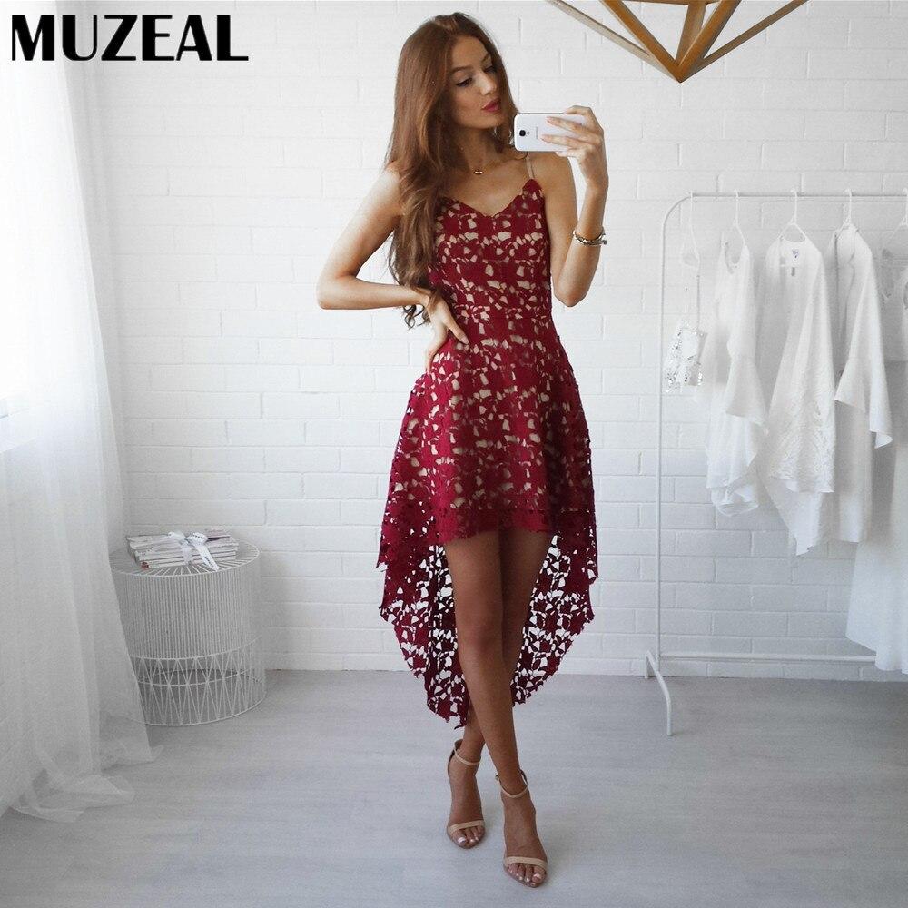 MUZEAL Wasserlösliche Baumwolle Sexy Girl Slip Kleid V ausschnitt ...