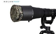 Rolanpro dslr 렌즈 캡 위장 자켓 짧은 망원 렌즈 총 의류 시그마 tamron 캐논 니콘 300/400/500/600/800mm