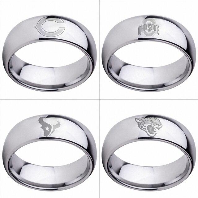Tungsten Wedding Rings Chicago Bears Ohio State Buckeyes Houston