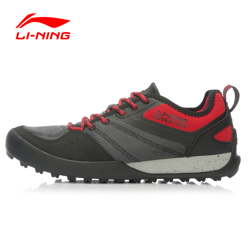 Li-Ning Outdoor Men's Hiking Shoes Explore Multi-Fundtion Walking Sneakers Wear-Resistance Sports Shoes AEHK005 XYD120 merrto men s outdoor cowhide hiking shoe multi fundtion waterproof anti skid walking sneakers wear resistance sport camping shoe